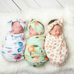 Girl Boys Sleeping Newborn Baby Daily Swaddle Blanket Floral