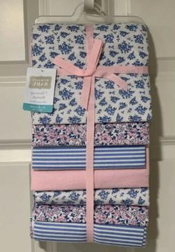 girl flannel receiving blanket 7 pack classic