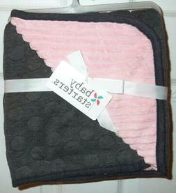 BABY STARTERS   Girl's Gray & Pink Baby Blanket  30 x 40 NEW