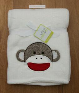 Baby Girl Sock Monkey Coral Plush Boa Blanket by Baby Starte