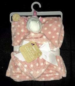 Babe Luxe Girl Unicorn Plush Blanket & Baby Security Blanket