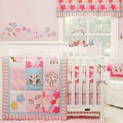 Girl Woodland 4 Piece Crib Set