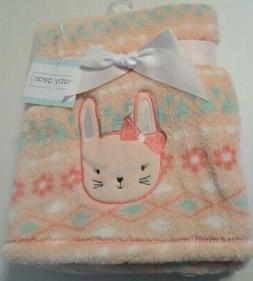 Baby Gear Girls Aztec/Flower Print & Velvety Bunny Blanket P