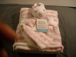 Hudson Baby Girls Bunny Security Blanket & Blanket Set pink/