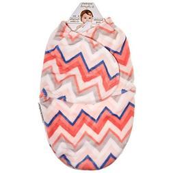 Blankets & Beyond Girls Chevron Swaddle Bag