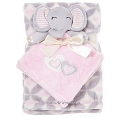 Baby Gear Girls Layette Pink Gray Elephant Hearts Security B