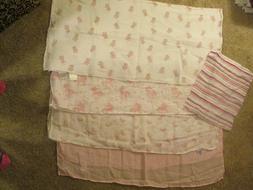 girls muslin swaddle blankets unicorns rainbows aden