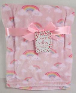 Zak & Zoey Girls Rainbow Print Baby Blanket Lightweight Lt P