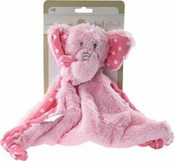 Kelly Baby Girls Security Blanket with Rattle, Pink Elephant
