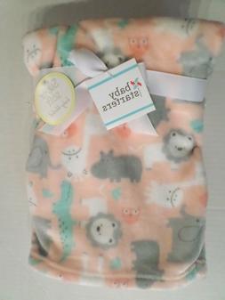 girls super soft zoo animal baby blanket