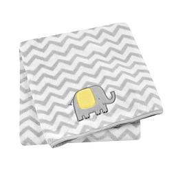 Cuddletime Globetrotter Fluffy Fleece Baby Blanket, Yellow &