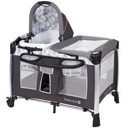 Baby Trend Go-Lite Elx Nursery Center Playard- Drip Drop Blu