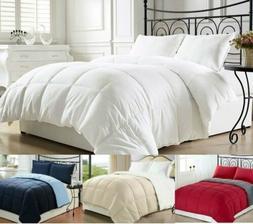 goose down alternative luxurious reversible comforter full