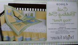 Kidsline Graco Frog Pond Crib Bedding 4-piece Set - BRAND NE