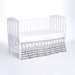 Rockingham Road Gray Elephant Collection Crib Bed Skirt  #1