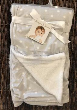 Blankets and Beyond Gray Grey Polka Dot Baby Blanket