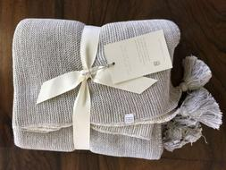 Elegant Baby Gray Ombre Tassel Baby Blanket