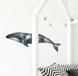 Gray Whale 1 Wall Decal Watercolor Wall Sticker Sea Ocean Ba