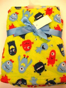 "Baby Gear Green Boys Monsters' blanket 30"" X 40"""