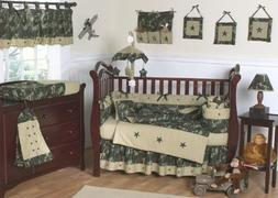 Sweet Jojo Designs Green and Brown Camo Camouflage Military