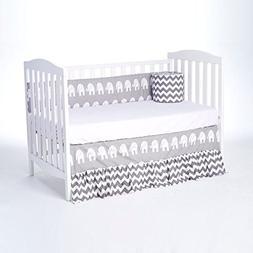 Rockingham Road Grey Elephant Collection Reversiable Crib Bu