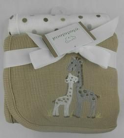 Koala Baby Grey Giraffes 2 Pack Thermal Blankets