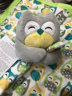 Carter's Grey Owl Security Blanket with Plush