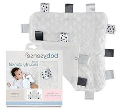 Baby Sense Grey Warm and Cozy Taglet Security Blanket with P