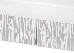 Sweet Jojo Designs Grey and White Wood Grain Toddler Bed Ski