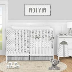 Grey Woodland Arrow Baby Boy or Girl 5pc Nursery Crib Beddin