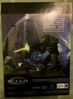 Halo Combat Evolved Poster Ad Print X-Box Retro
