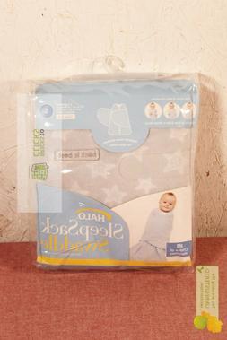 HALO Innovations Sleepsack Micro-Fleece Swaddle, Small, Gray