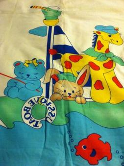 hand quilted baby blanket ss love boat with fleece backing 4