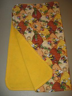 Handcrafted Baby Receiving Blanket - Silly Bees & Hives