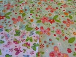 Handmade Butterfly and Flower Double-sided Cotton/Flannel Ba