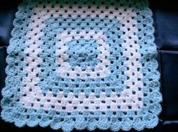 Handmade Crocheted Baby Boy Security Lovey  Blanket or  Doll