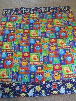 Handmade Monster Blocked Theme Double-sided Cotton/Flannel B