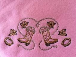 Handmade Personalized 30x30 inches, Cream,Embroidery Fleece