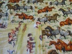 Handmade Tan Horse Theme Double-sided Cotton/Flannel Baby/To