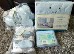 Happy Clouds LOT 5-piece Crib Bedding Set plus cloud pillows