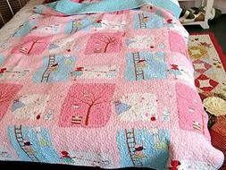 Happy Girl Baby Bedding Coverlet Quilt Bedspread Throw Blank