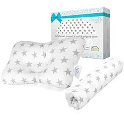 Baby Head Shaping Pillow + Bamboo Swaddle Blanket   Breathab