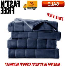 Heated Electric Fleece Blanket w/ 5 Heat Settings Full Size,