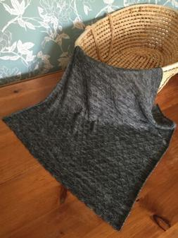 Heavenly soft Cashmere blend baby shawl/blanket.  col. Dark