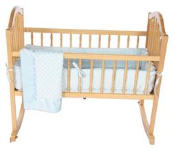 Heavenly Soft Cradle Bedding Set - Color: Blue