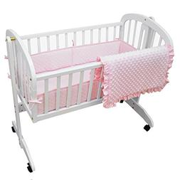 American Baby Company Heavenly Soft Minky Dot 3-Piece Cradle