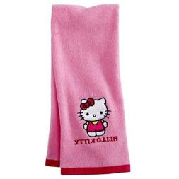 Hello Kitty Embroidered Pink Hand Towel - 16 in x 28 in