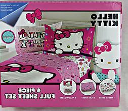 Hello Kitty Girls 4 Piece Full Sheet Set