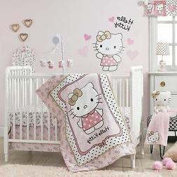 Bedtime Originals Hello Kitty Luv Hearts 3 Piece Crib Beddin