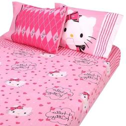 "Hello Kitty ""Sweet and Sassy"" 4pc Full Sheet Set"
